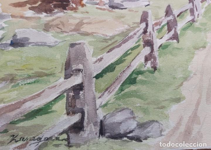 Arte: ACUARELA FIRMADA POR ZARAGOZA (ASTURIAS, OVIEDO, GIJÓN, AVILÉS) - Foto 2 - 236939155
