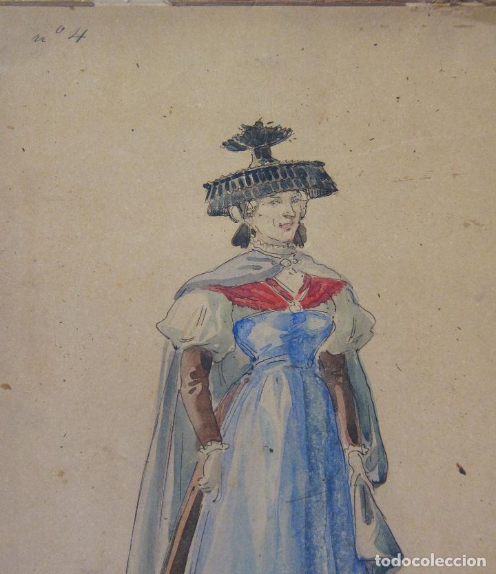 Arte: LUIS LABARTA I GRANÉ.15 FIGURINES DE TEATRO PARA LA OBRA JAVOTTE. TEATRE DEL LICEU, BARCELONA 1898 - Foto 9 - 237283795