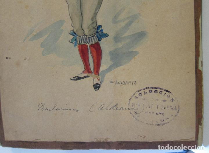Arte: LUIS LABARTA I GRANÉ.15 FIGURINES DE TEATRO PARA LA OBRA JAVOTTE. TEATRE DEL LICEU, BARCELONA 1898 - Foto 16 - 237283795