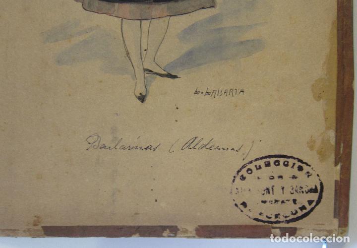 Arte: LUIS LABARTA I GRANÉ.15 FIGURINES DE TEATRO PARA LA OBRA JAVOTTE. TEATRE DEL LICEU, BARCELONA 1898 - Foto 18 - 237283795