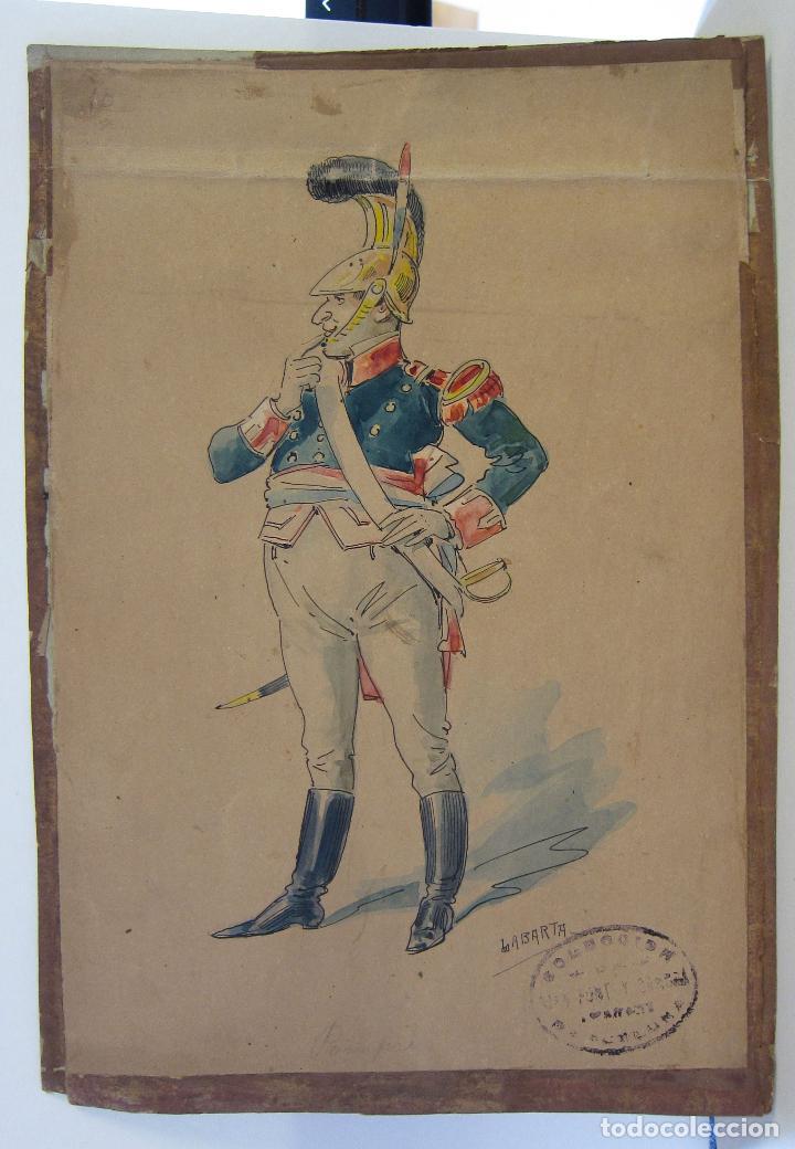Arte: LUIS LABARTA I GRANÉ.15 FIGURINES DE TEATRO PARA LA OBRA JAVOTTE. TEATRE DEL LICEU, BARCELONA 1898 - Foto 20 - 237283795