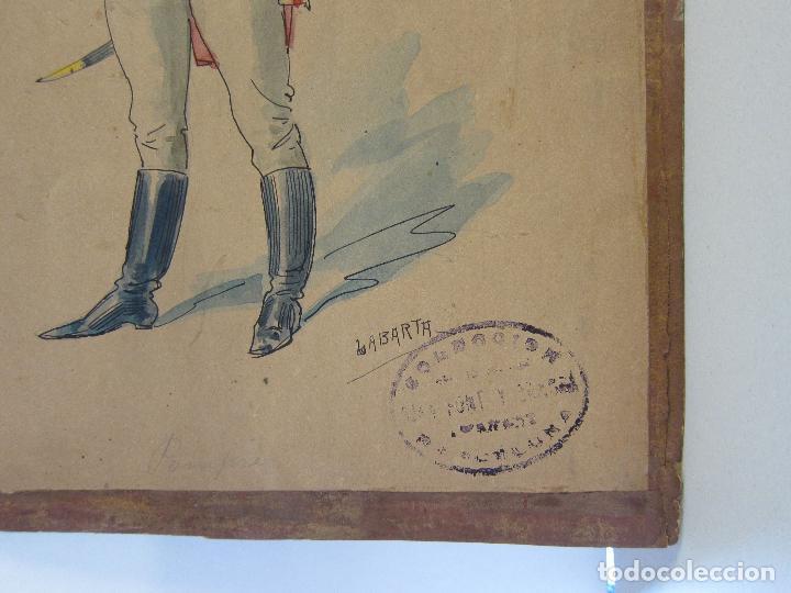 Arte: LUIS LABARTA I GRANÉ.15 FIGURINES DE TEATRO PARA LA OBRA JAVOTTE. TEATRE DEL LICEU, BARCELONA 1898 - Foto 21 - 237283795