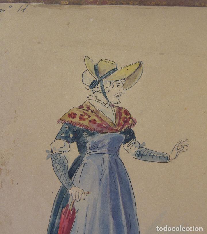 Arte: LUIS LABARTA I GRANÉ.15 FIGURINES DE TEATRO PARA LA OBRA JAVOTTE. TEATRE DEL LICEU, BARCELONA 1898 - Foto 23 - 237283795