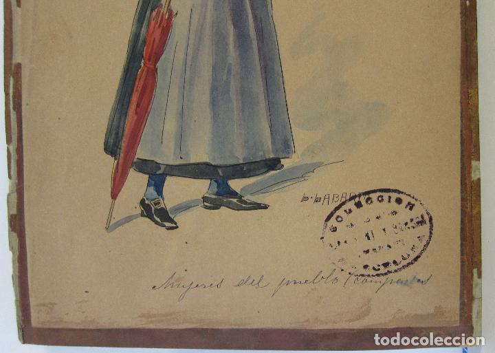 Arte: LUIS LABARTA I GRANÉ.15 FIGURINES DE TEATRO PARA LA OBRA JAVOTTE. TEATRE DEL LICEU, BARCELONA 1898 - Foto 24 - 237283795