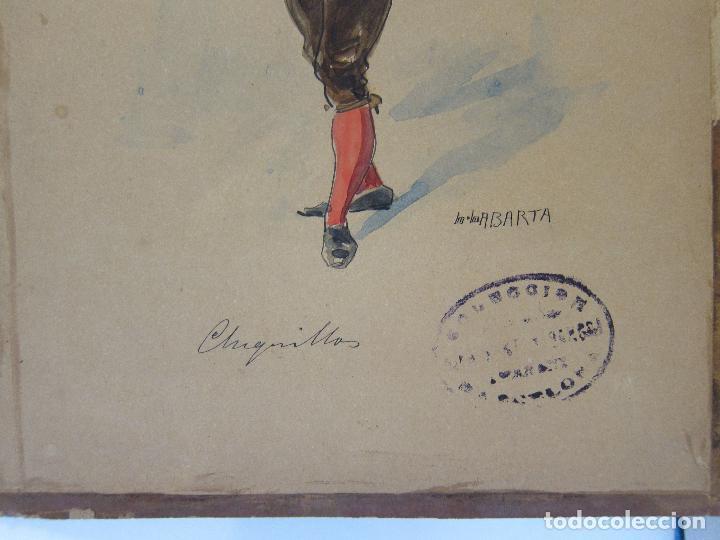 Arte: LUIS LABARTA I GRANÉ.15 FIGURINES DE TEATRO PARA LA OBRA JAVOTTE. TEATRE DEL LICEU, BARCELONA 1898 - Foto 27 - 237283795