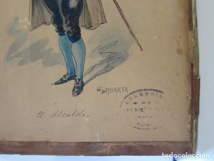 Arte: LUIS LABARTA I GRANÉ.15 FIGURINES DE TEATRO PARA LA OBRA JAVOTTE. TEATRE DEL LICEU, BARCELONA 1898 - Foto 31 - 237283795