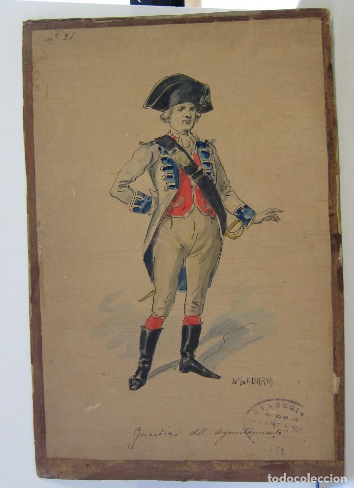 Arte: LUIS LABARTA I GRANÉ.15 FIGURINES DE TEATRO PARA LA OBRA JAVOTTE. TEATRE DEL LICEU, BARCELONA 1898 - Foto 33 - 237283795