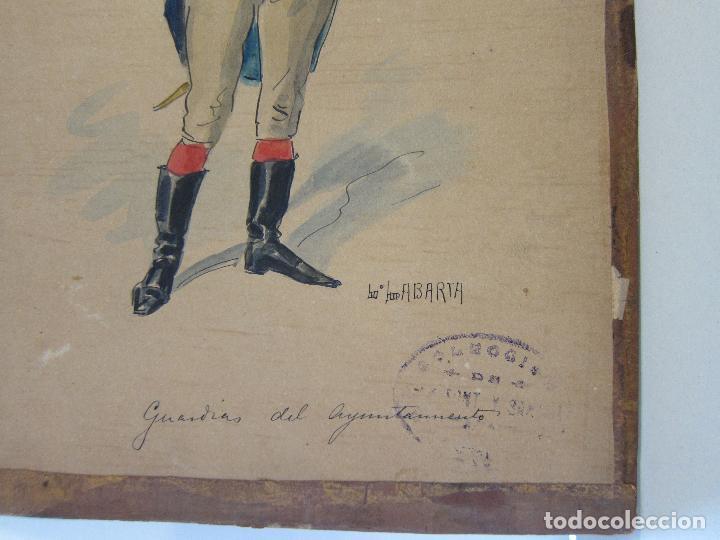 Arte: LUIS LABARTA I GRANÉ.15 FIGURINES DE TEATRO PARA LA OBRA JAVOTTE. TEATRE DEL LICEU, BARCELONA 1898 - Foto 35 - 237283795