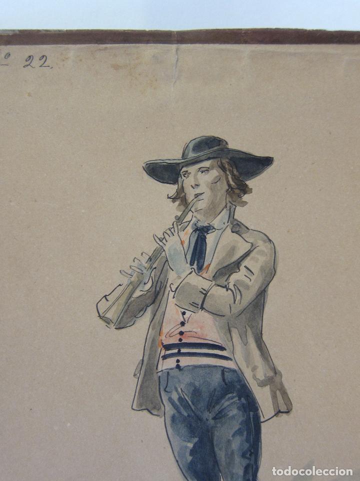 Arte: LUIS LABARTA I GRANÉ.15 FIGURINES DE TEATRO PARA LA OBRA JAVOTTE. TEATRE DEL LICEU, BARCELONA 1898 - Foto 37 - 237283795
