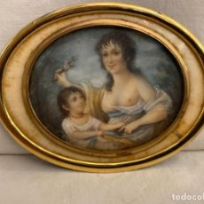 Arte: EXTRAORDINARIA MINIATURA DE EDWARD LAMBERT, PINTOR INGLÉS. SIGLOS XVIII-XIX. FIRMADA.. Lote 237365505