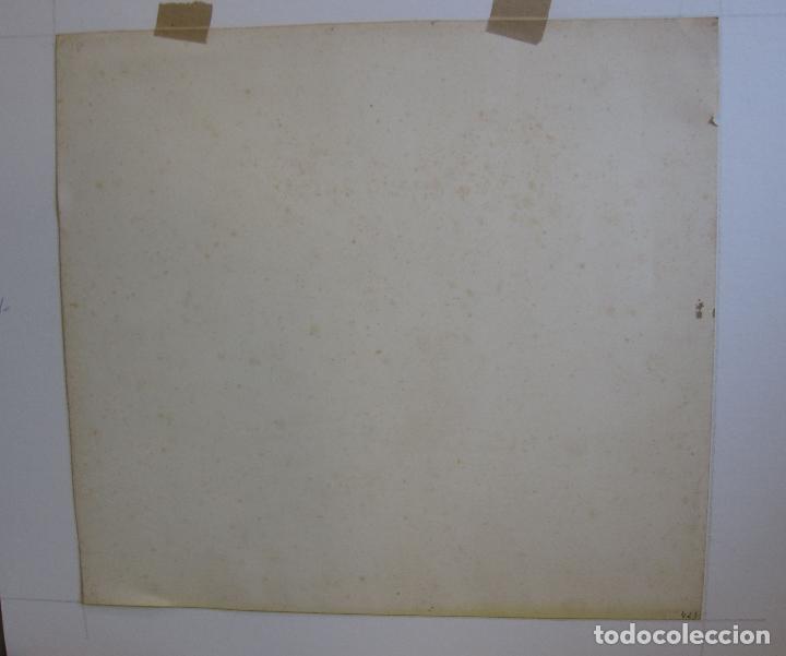 Arte: AGAPIT VIDAL SALICHS. MUCHACHA CON CESTA DE FRUTAS. 1928. ACUARELA. 36 X 39 CM - Foto 6 - 237468770