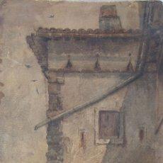 Arte: RAMON ALORDA. RINCÓN DE CASA DE CAMPO. ACUARELA. FIRMADA. 44 X 23 CM. Lote 237627140