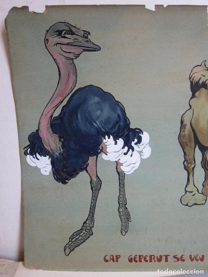 Arte: JOAN LLAVERIAS. CAP GEPERUT SE VEU EL GEP. HACIA 1905. GOUACHE. 51,5 X 66 CM - Foto 7 - 237665440