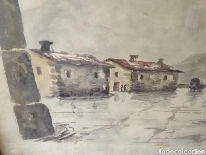 Arte: Grande acuarela enmarcada. Firmado: Rivas - Foto 2 - 237855670