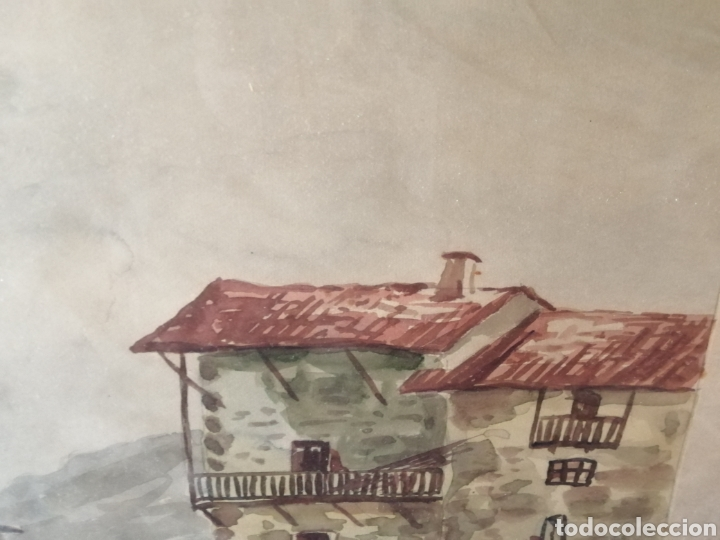 Arte: Grande acuarela enmarcada. Firmado: Rivas - Foto 3 - 237855670