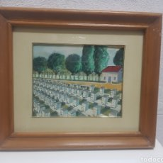 Art: ACUARELA ANÓNIMA DE MOTIVOS DE APICULTURA AÑOS 1970. Lote 238809405