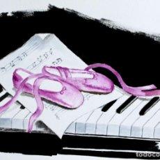 Arte: PIANO Y ZAPATILLAS OBRA DE GILABERTE. Lote 239499325