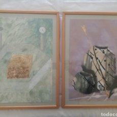 Arte: ACUARELAS MODERNAS (2) ENMARCADAS. Lote 239791530