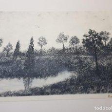 Arte: ACUARELA EN NEGRO PAISAJE FIRMADO CREO ARTIGAS. Lote 240036265