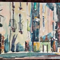 Arte: ACUARELA / * CALLE *. FIRMADA; PIZARRO. FECHADA AÑO 1964 (S. XX).. Lote 240346380