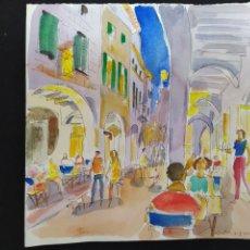 Art: JOSEP MOSCARDO ACUARELA. Lote 240991695