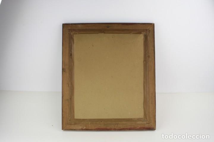 Arte: Interesante retrato de hombre afligido, acuarela, firma ilegible, con marco. 35x29cm - Foto 3 - 240995240