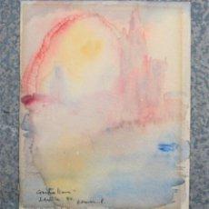 Arte: ACUARELA TITULADA CONTRALLUM, SEVILLA, 1980, FIRMADA ROMAN. 20,5X16CM. Lote 241681160