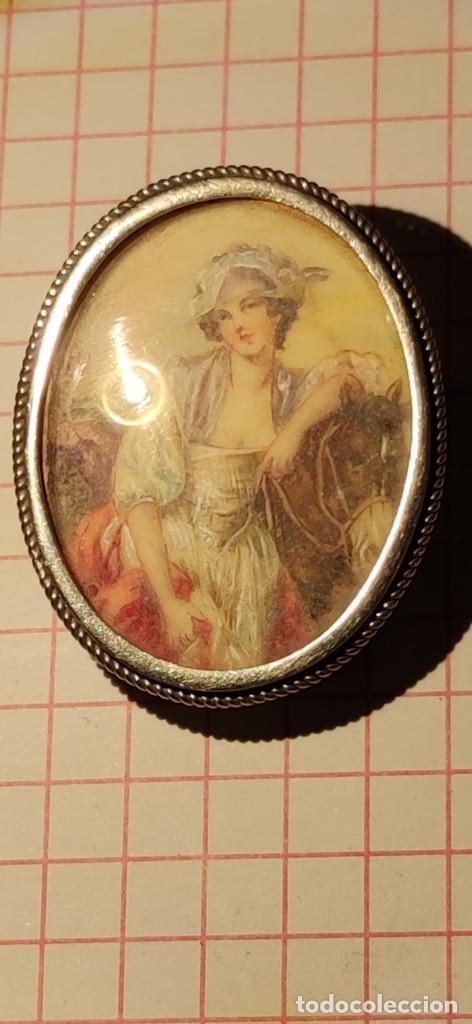 Arte: MAGNIFICO BROCHE S.XVIII PINTADO A MANO MONTURA PLATA DE LEY CONTRASTES 4 X 3 cm - Foto 7 - 241758180