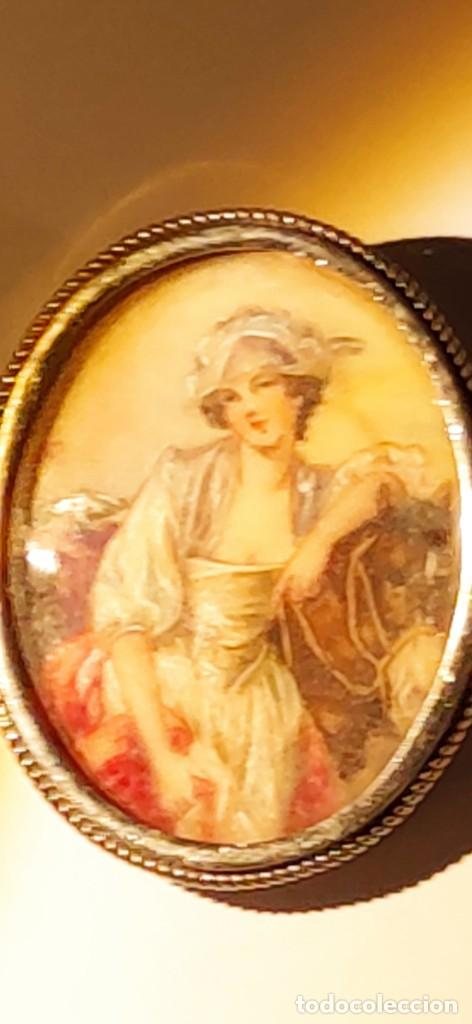 Arte: MAGNIFICO BROCHE S.XVIII PINTADO A MANO MONTURA PLATA DE LEY CONTRASTES 4 X 3 cm - Foto 9 - 241758180