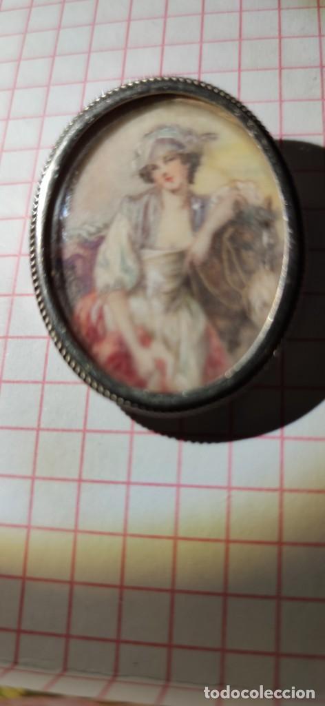 Arte: MAGNIFICO BROCHE S.XVIII PINTADO A MANO MONTURA PLATA DE LEY CONTRASTES 4 X 3 cm - Foto 10 - 241758180
