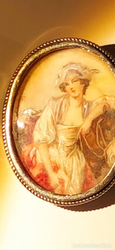 Arte: MAGNIFICO BROCHE S.XVIII PINTADO A MANO MONTURA PLATA DE LEY CONTRASTES 4 X 3 cm - Foto 11 - 241758180
