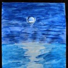 Arte: ACUARELA / * LUNA SOBRE EL MAR *. FIRMADA; C. GIMEMO (CONCHA GIMENO). S. XX.. Lote 242126220