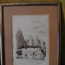 Arte: ACUARELA JM BAEZA CASTELL DE GUADALEST, ALICANTE. Lote 242892710