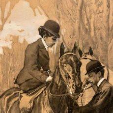 Arte: SALVADOR AZPIAZU - VITORIA 1867 - MADRID 1927 - GOUACHE SOBRE PAPEL. Lote 242897415