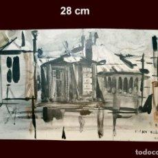 Arte: ACUARELA DE PARIS DE RAMON BILBAO - TITULADA Y FIRMADA. Lote 243314810