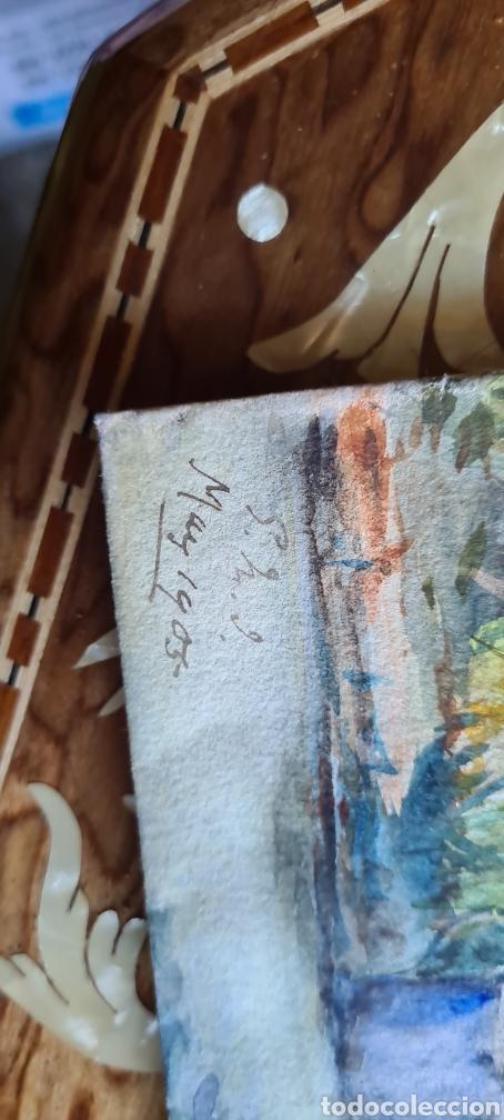 Arte: Acaruela muy bonita 1905 fechada y firmada - Foto 2 - 243414110
