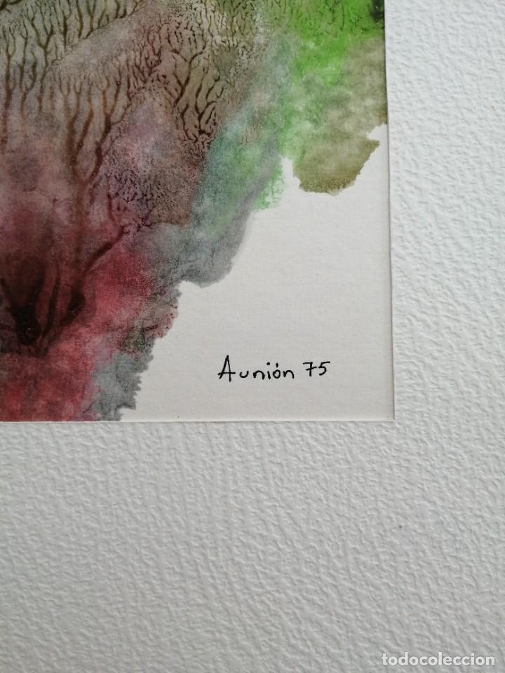 Arte: Abstracto. Acuarela firmada Aunion 73 - Foto 3 - 244017675