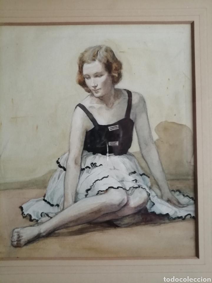 Arte: Preciosa acuarela años 50 - Foto 3 - 244665715