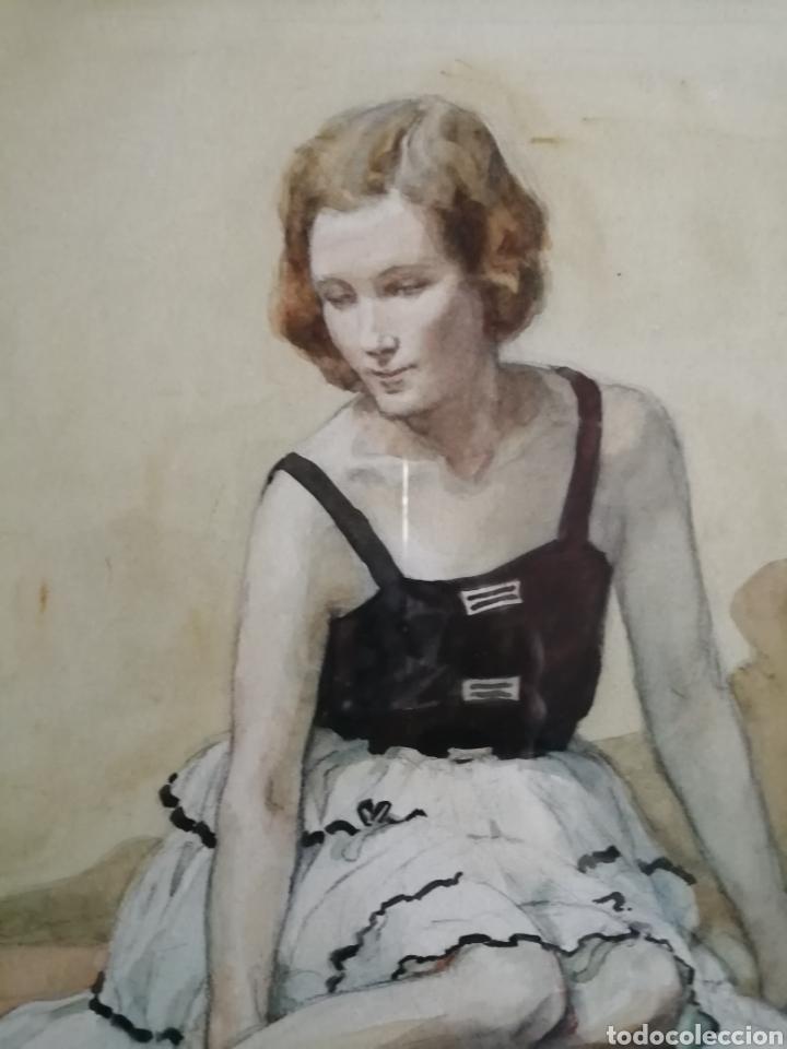 Arte: Preciosa acuarela años 50 - Foto 6 - 244665715