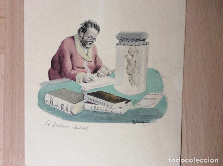 ACUARELA Y TINTA CON FIRMA 23CMX16CM.PRICIPIOS SIGLOXX (Arte - Acuarelas - Modernas siglo XIX)