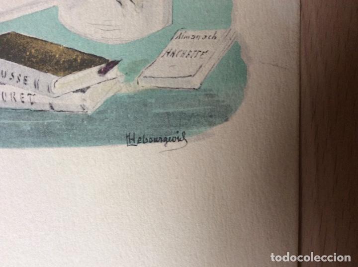 Arte: Acuarela y tinta con firma 23cmx16cm.pricipios sigloXX - Foto 2 - 244840890