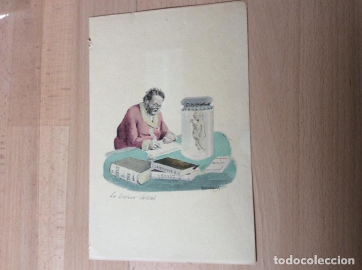 Arte: Acuarela y tinta con firma 23cmx16cm.pricipios sigloXX - Foto 4 - 244840890