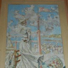 Arte: (M) MARIANO OBIOLS DELGADO 1860/1911- ACUARELA MIRANDO LAS REGATAS , FIRMADO M.O. DELGADO ENMARCADO. Lote 245046605