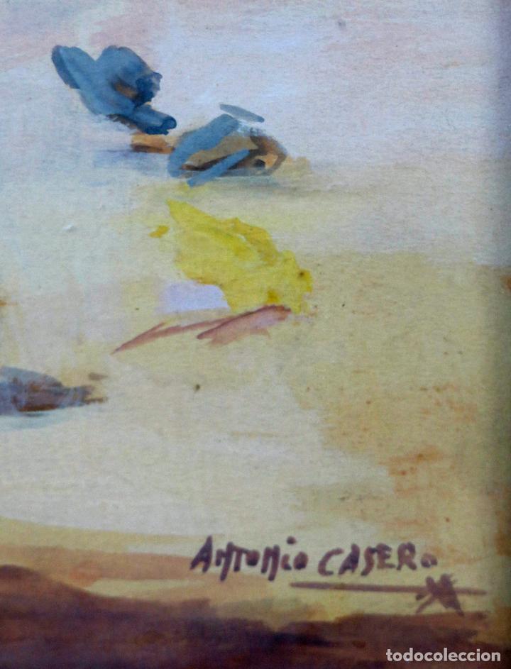 Arte: Tauromaquia toreando acuarela sobre papel Antonio Casero Sanz firmada años 50 - Foto 7 - 245547480