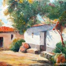 Arte: J. AMAT. ACUARELA SOBRE PAPEL. PORTAL. Lote 246462950