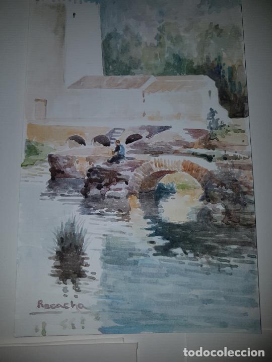 Arte: 3 ACUARELAS DE RECACHA - Foto 2 - 246756610