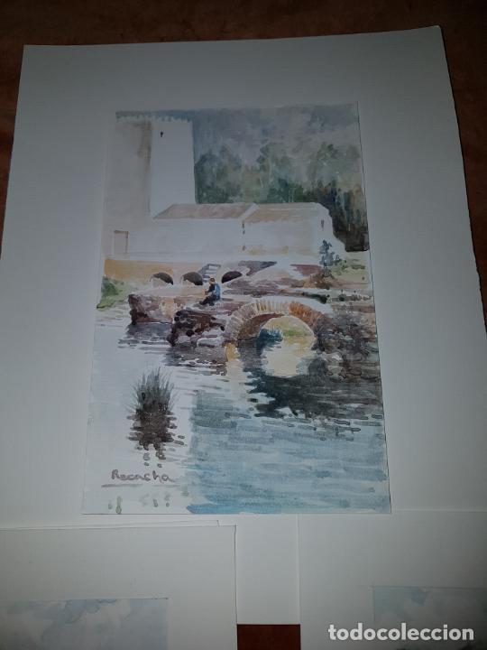 Arte: 3 ACUARELAS DE RECACHA - Foto 7 - 246756610