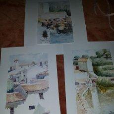 Arte: 3 ACUARELAS DE RECACHA. Lote 246756610