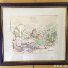 Arte: 4 ACUARELAS DE G. RIBARROCA. Lote 246899595