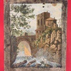 Arte: ANTIGUA ACUARELA DEL ARCHIVO DE PASCUAL Y ABAD SIGLO XIX VALENCIA. Lote 246936505
